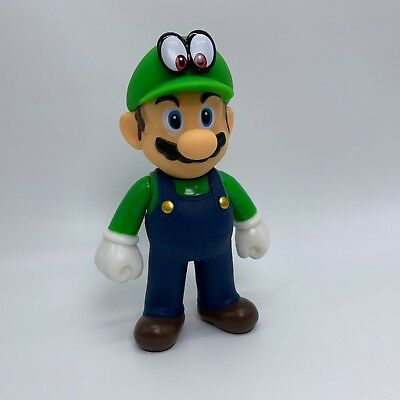 Super Mario Odyssey Mario in Luigi Custume Action Figure Plastic Toy Doll 5""