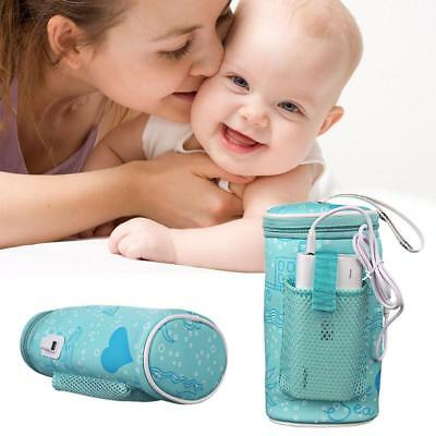 Baby Bottle Thermostat Bag Car Portable USB Heating Warm Milk Tool Cover Kit