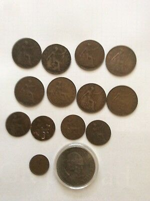 Lot Of Old English Coins