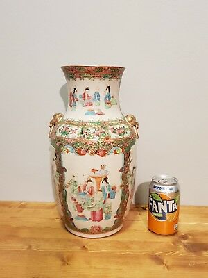 Large Quality 19Th C Chinese Famille Rose Stunning Vase