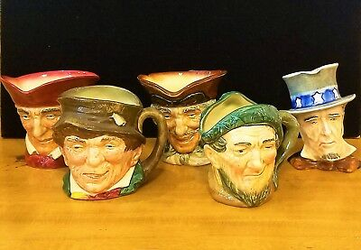 Lot Of Royal Doulton England Character Toby Mugs & 1 Royal Winston Grimwades