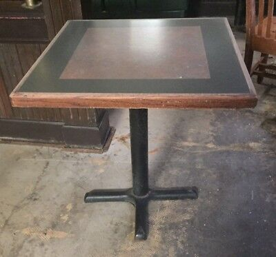 Used Restaurant Wooden Table with cast iron support (45 available)