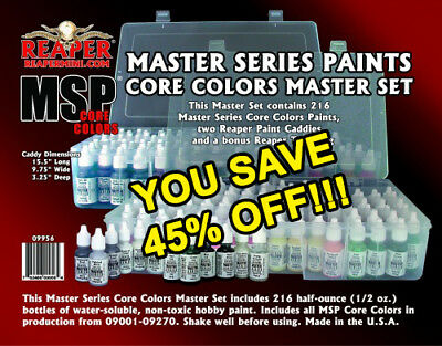 NEW Reaper Master Series Paints Complete Set 216 09956 FREE SHIPPING