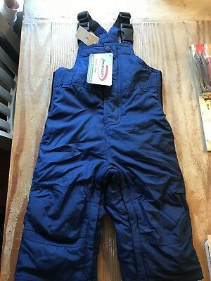 NWT Baby Gap Primaloft Snowpants With Suspenders Navy Blue 12-18 Months