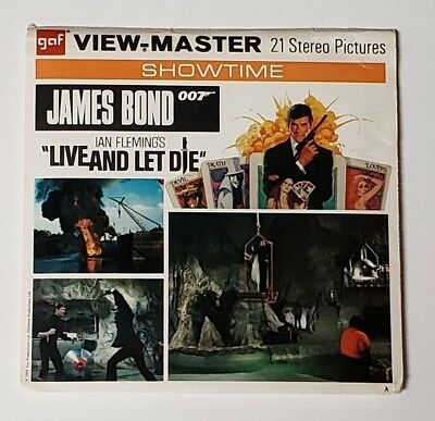 """James Bond 007 - Ian Fleming's """"live And Let Die"""" - View Master Slides"""