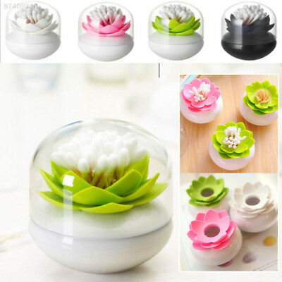 02CD Dual Use Lotus Shape Cotton Toothpick Storage Box With Cover Decoration