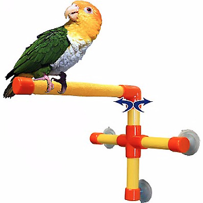 Keer Colorful Rotate Cotton Rope Bird Perch Stand for Parrot