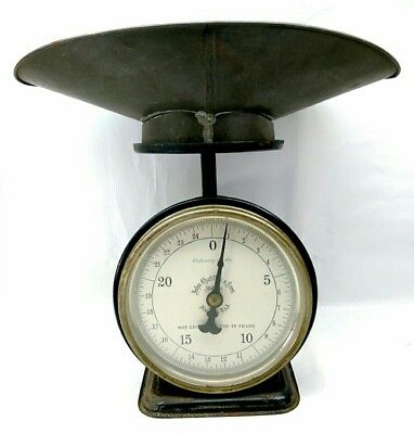Antique John Chatillon & Sons New York 25 Lbs Kitchen Family Scale W/ Scale Pan