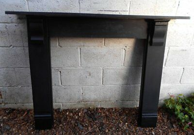 Reclaimed  Victorian Slate  &  Pine  Fire  Surround