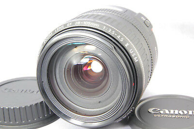 Canon EF 28-105mm f/3.5-4.5 II Macro USM For Canon EF [Excllent] w/ Caps Japan
