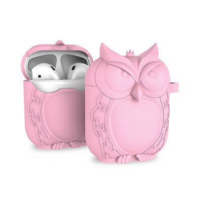 Luxury Cute Owl AirPods Case Silicone Holder Bag for Apple Air Pod Accessories