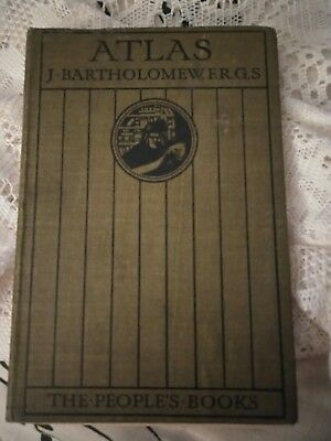 Atlas J. Bartholomew F.R.G.S. The People's Books Vintage small Atlas book