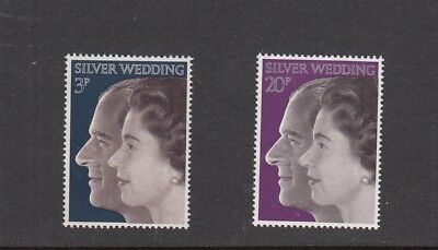 Stamps GB QE2 1972 Royal Silver Wedding SG 916 - 917 Set of 2 stamps  MNH