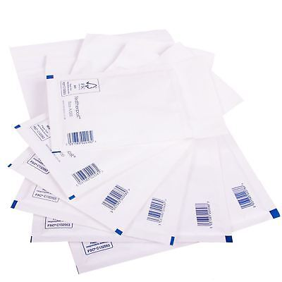 BUBBLE Padded Mail Parcel Mailer Bags Paper Envelopes ALL SIZES QTY'S in WHITE