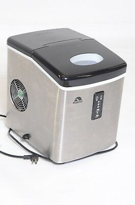 IGLOO Portable Electronic Ice Maker Stainless Steel Countertop Compact - ICE103