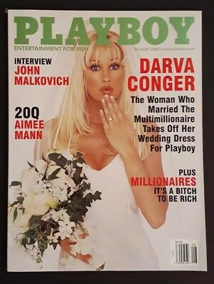 Playboy August 2000 ~ DARVA CONGER on cover ~ SUMMER ALTICE in Centerfold!!