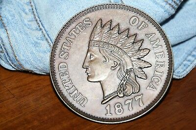 Large 1877 Cent Measures 3'' Round