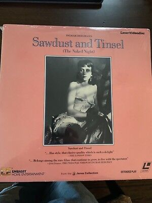 NEW SEALED!! Ingmar Bergman's SAWDUST AND TINSEL, EXTENDED PLAY LASERDISC