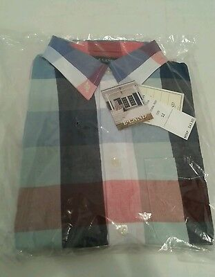 Boys Shirt age 12 E-Lands Coral Reef Checked, Party, Christmas BNWT RRP $43.50