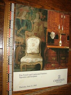 June 13, 1985 Christie's Auction catalog- French & Cont. Furniture w/ prices