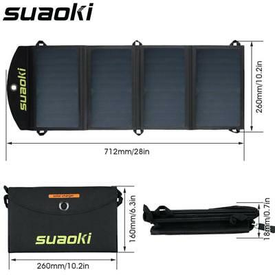 Folding Solar Panel Foldable Portable Charger 25W Waterproof Dual USB Port