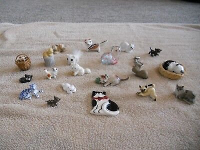 LOT of 21 Vintage Miniature Cats Kittens