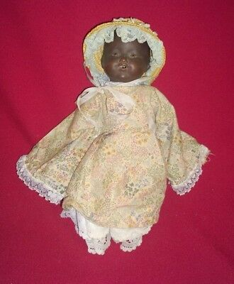 Vintage AM Armande Marseille Germany Black doll with open mouth sleeping eyes