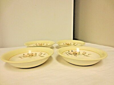 """Lot 4 K T & K (Knowles,Taylor,Knowles) China 5 1/2"""" Small Bowls;S--V Ivory WildF"""