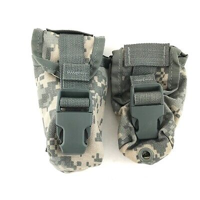 2 Flashbang Grenade Pouch, US Army MOLLE Digital Camo Utility Pouches, Military