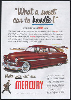 1948 Mercury ad red Mercury 4-door Sedan