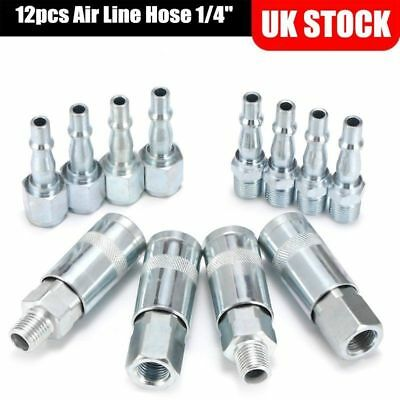 Air Compressors 12pcs Air Line Fittings Connectors Release Hose Compressor Fitting Connector Set Low Price Business & Industrial