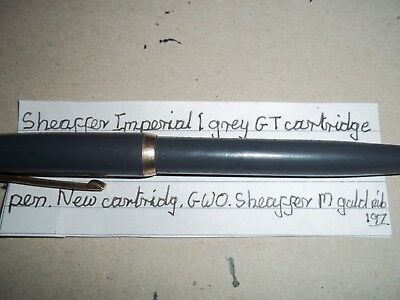 Sheaffer Imperial I GT fountain pen in grey, cartridge fill (New fitted), GWO.