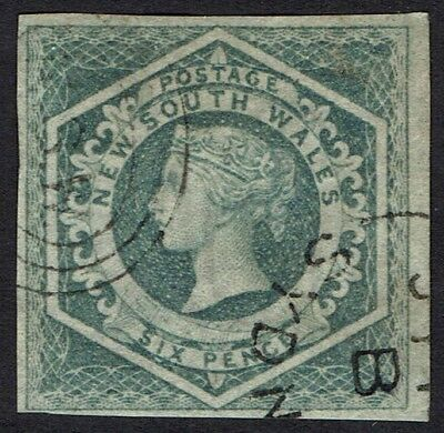 New South Wales 1854 Qv Diadem 6D Imperf Used