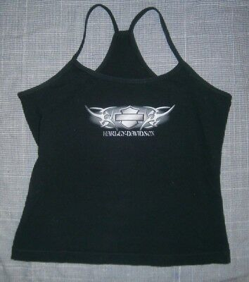 Women's Size Medium ~ HARLEY-DAVIDSON ~ Sleeveless T-Back Tank Top LAS VEGAS, NV