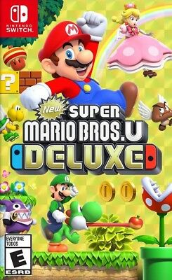 New Super Mario Bros U Deluxe Nintendo Switch Brand New Sealed No Tax