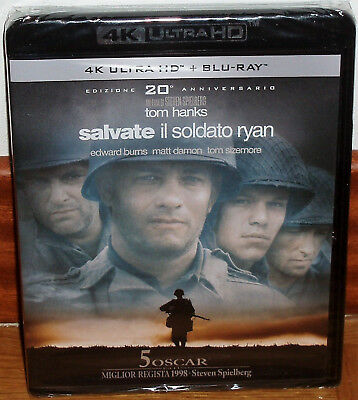 Save To The Soldier Ryan Blu-Ray 4K Ultra Hd+Blu-Ray New Spanish (Unopened)