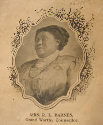 1912 African-American Calanthe Woman's Auxiliary To Georgia Knights Of Pythias