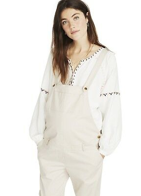 Hatch Collection Maternity Twill Overall Ivory Size 2 NWT $278