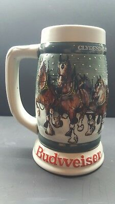 1982 Budweiser - 50th Anniversary Clydesdale's Holiday Beer Stein Mug 1933-1983