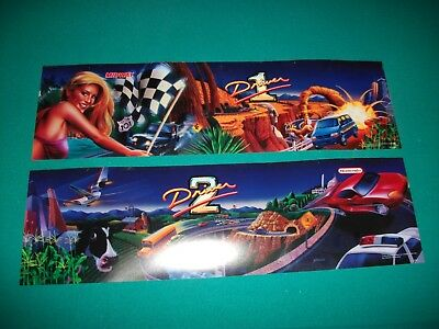 CRUISIN' USA Marquee Header Midway Translight Backlit Signs Dual set Arcade Game