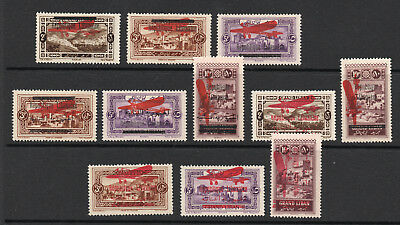 Lebanon - (11) Airmails / 1927 & 28 / Very Attractive - Lot 1018022