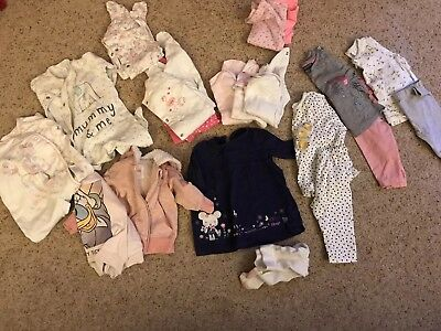 Huge Bundle Of Baby Girl Clothes 3-6 Months TU, NEXT, F&F, GEORGE DISNEY Etc