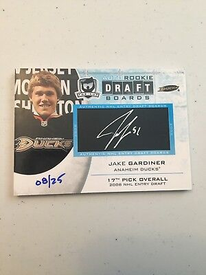 2011-12 Upper Deck The Cup Jake Gardiner Auto Rookie Draft Boards #08/25