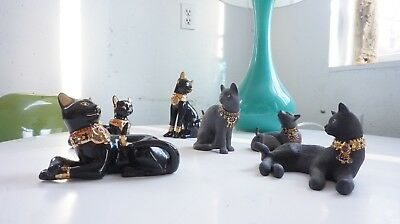 Black Lenox Egyptian cat set of 6 Miss Chievous and more