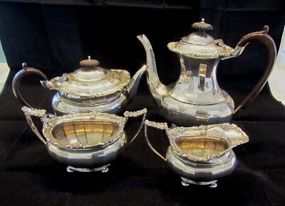 Antique English Sterling Silver Tea Coffee Set Nathan Hayes Chester 1816g C1906