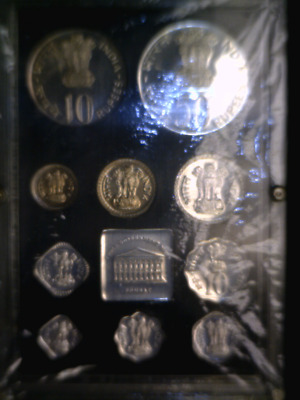 1974 India Proof Coin Set - 10 Coins Rare Mint Complete  As Issued. $129 Sale