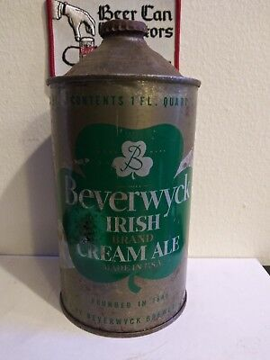 Cone top beer cans beverwyck irish cream ale very very rare quart !!!!