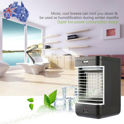 AU NEW Portable Mini Air Conditioner Cool Cooling For Bedroom Cooler Fan HOT S8