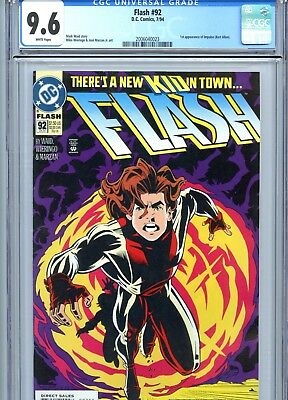 Flash #92 CGC 9.6 White Pages 1st Impulse DC Comics 1994