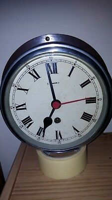 Classic Elliott Movement Bulkhead Ships Clock - Working condition